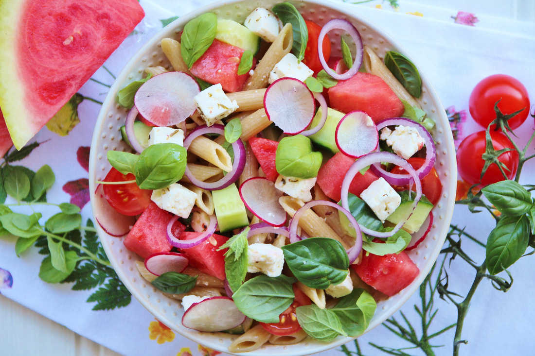 pasta salad with watermelon